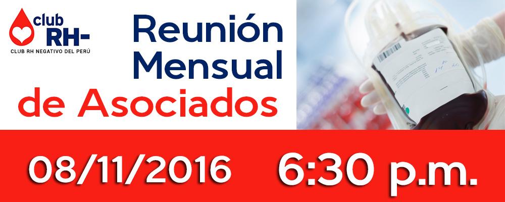 Reunión Mensual de Asociados Martes 13 de Diciembre