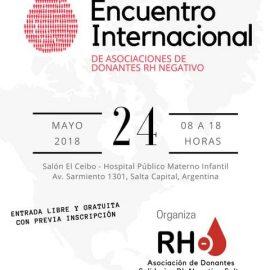 Primer encuentro Internacional de Asociaciones Rh Negativo