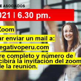 Reunión Mensual Club Rh Negativo, martes 08 de junio de 2021 vía ZOOM
